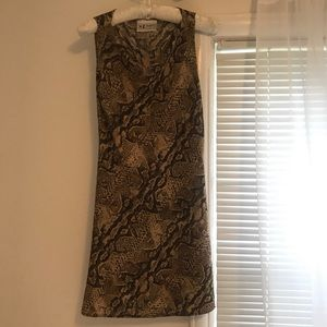 Vintage snakeskin cowl neck dress